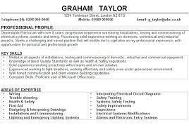sample resume for electrician electrician cv sample