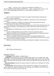 Pl Sql Developer Sample Resume by Solaris Administration Sample Resume 17 Sql Server Developer