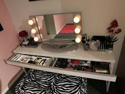 Tabletop Vanity Mirror With Lights Diy Makeup Vanity Brilliant Setup For Your Room