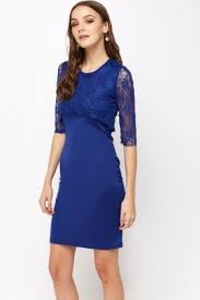 blue bodycon dress lace overlay royal blue bodycon dress just 5