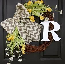 burlap wreath ideas spaces farmhouse with wild flowers spring wreath