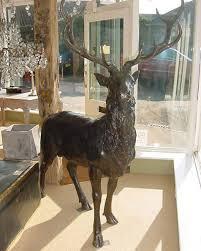 bronze stag statue antique bronze statues and ornaments