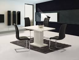 Compact Dining Table by Livio White High Gloss Contemporary Designer 120 Cm Compact Dining
