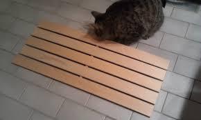 ikea hackers wooden bathmat duckboard home bathroom