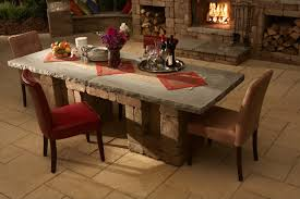 Dining Room Kitchen Table Black Inspirations Also Stone Top - Stone kitchen table