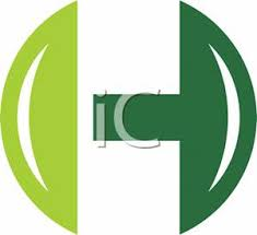 green letter h design royalty free clipart picture