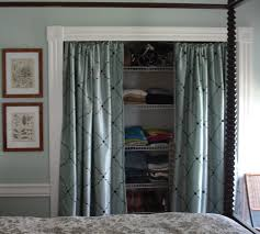 Replace Sliding Closet Doors With Curtains Cottage Bedroom Closets Ditched The Closet Doors And Instead Of