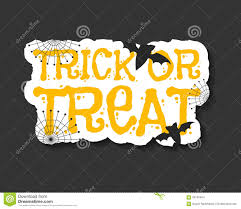 happy halloween trick and treat flyer template stock vector