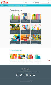 website template 53575 clean chemical products custom website