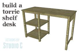 Build A Studio Desk Plans by A Simple Desk Perfect For Back To U2013 Designs By Studio C