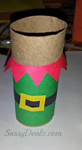 santa u0027s elf toilet paper roll craft for kids crafty morning