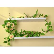 ivy home decor artificial silk rose flower ivy vine hanging garland plants