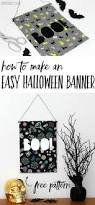 easy diy halloween decoration free cut file halloween banner