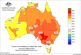 World Temperatures Map by Warmer Days And Nights Favoured Across Southeastern Australia