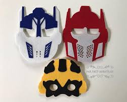 transformers party decorations set of 3 transformers masks transformers party favors