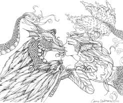 fantasy woman skulls snake myths legends coloring pages for at