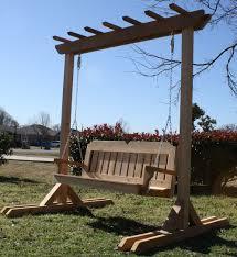 freestanding 4x4 arbor swing