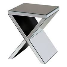 Mirrored Accent Table Mirrored Side Tables And End Tables Houzz