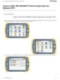 topcon hiper sr magnet field configuration for network rtk port