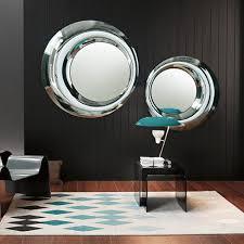 wandspiegel wohnzimmer wandmontierter spiegel modern rund wohnzimmer rosy by