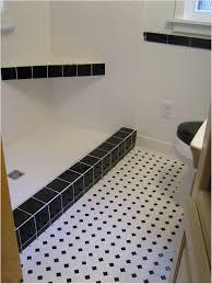 impressive black and white bathroom floor tile in interior home