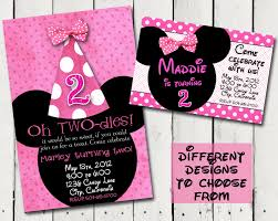 Create Your Own Invitation Cards Birthday Invites Outstanding Minnie Mouse Birthday Invitations