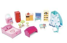 le toy van deluxe doll u0027s house furniture set amazon co uk toys