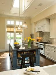 design stunning french country kitchen with blue island and