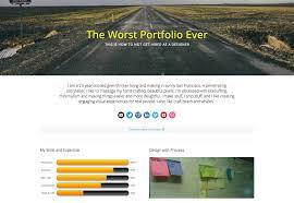 the worst portfolio ever webdesigner depot