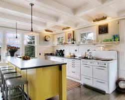 yellow kitchen islands yellow kitchen island houzz