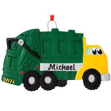 personalized garbage truck ornament penned ornaments