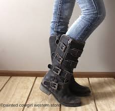 s boots buckle corral s distressed black straps buckle zipper boots p5079