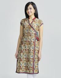 kurti pattern for fat ladies cotton kalamkari ajrak trim anghrakha long kurta clothing