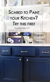 painting my kitchen cabinets blue upcycle a sink into a buffet my design