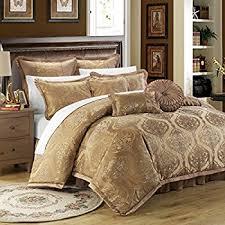 Gold Bed Set 9 King Gold Imperial Comforter Set Home Kitchen