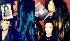 teal hair extensions impression bellami hair extensions jenner tang