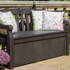 iceni storage bench in dark brown sheds u0026 storage cuckooland