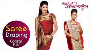 Draping Tutorial How To Drape A Saree Coorgi Adapted Style Quick Saree Draping
