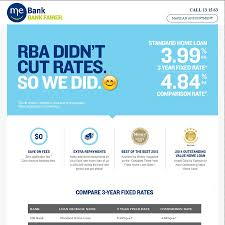 me bank 3 years fixed rate home loan 3 99 comparison 4 84