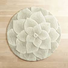 Round Flower Rugs Rose Tufted Ivory Round Rug Pier 1 Imports