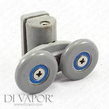 25mm double wheel pivot sliding shower door roller runners spring