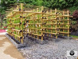 urban agriculture an urban vegetable garden in bamboo