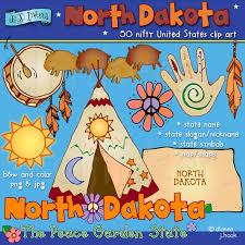 North Dakota Travel Symbols images Whimsical north dakota clip art for the peace garden state by dj jpg