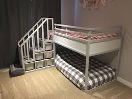 ikea kura bed hack trofast stairs bunk bed diy projects