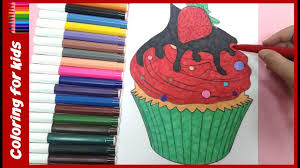 cake coloring pages how to color strawberry cupcake coloring
