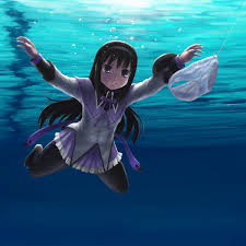 Album Cover Meme - akemi homura nirvana nevermind album cover parodies know