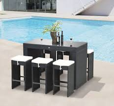 Bar Set Patio Furniture 7pc Rattan Wicker Bar Set Patio Furniture Bistro Dining Table