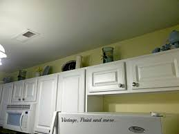 Area Above Kitchen Cabinets by Painted Dishes Vintage Paint And More