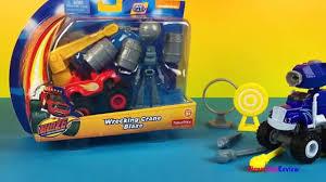 wrecking crane blaze monster truck 3 mighty machines for kids
