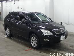 2008 toyota harrier black for sale stock no 45809 japanese